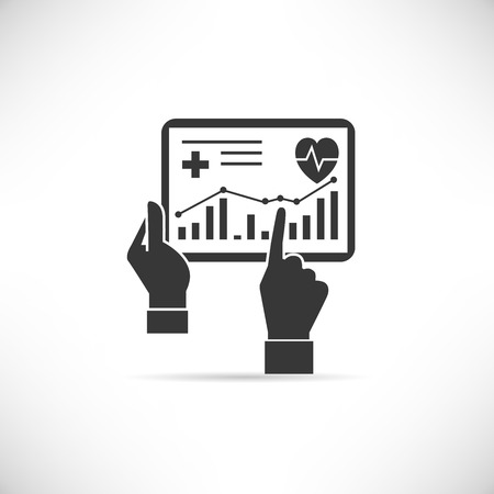 graph trend: medical record Illustration