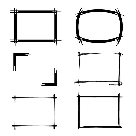 sketch border, rectangle frames