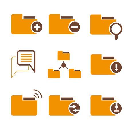 folder icons: folder icons Illustration