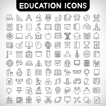education icons 向量圖像