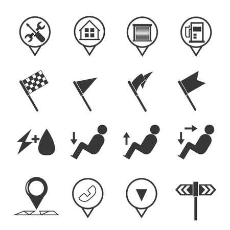 garage: garage icons