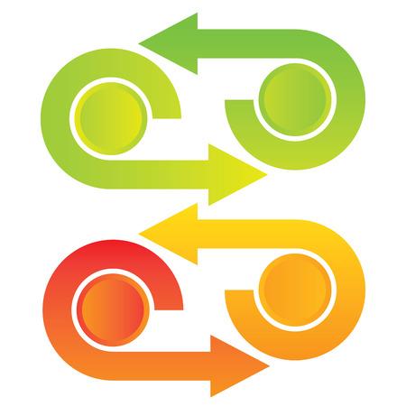 arrow circles: colorful diagram template Illustration