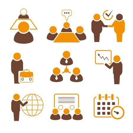 business meeting: business meeting icons Illustration
