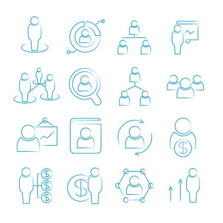 tendance: human resource icons, management icons