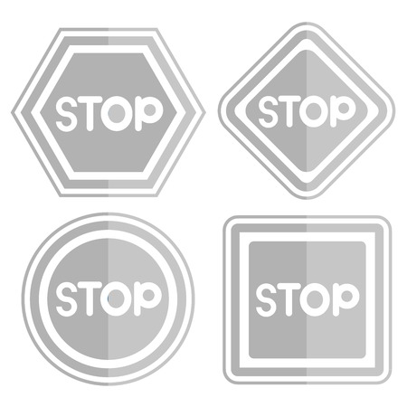 slow down: stop signages