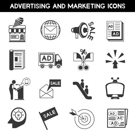 advertising icons Vektorové ilustrace