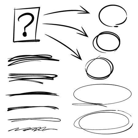 emphasis: highlighter elements Illustration