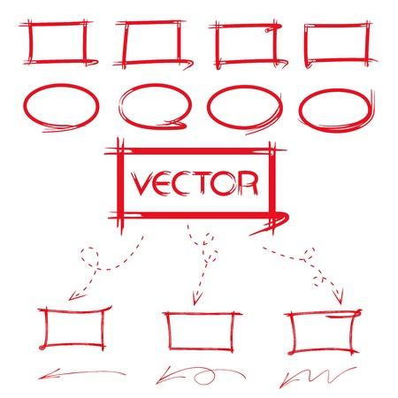 emphasis: highlighter and marker, diagram elements