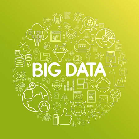 big: grandes datos Vectores