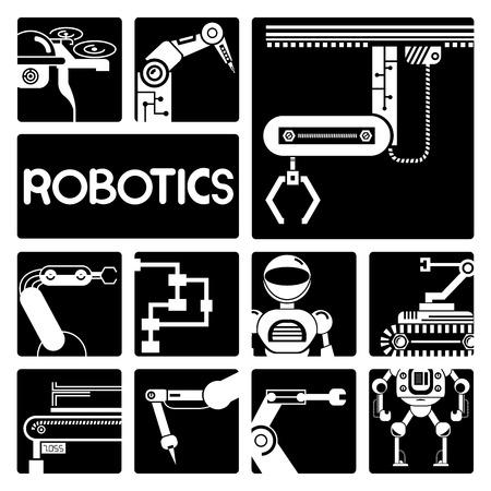 human hand: robot icons