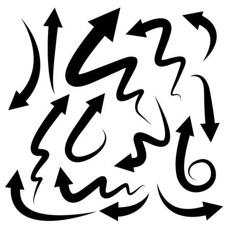 arrow icons: curved arrow icons Illustration