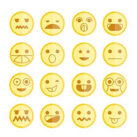 thrilled: emoticons Illustration