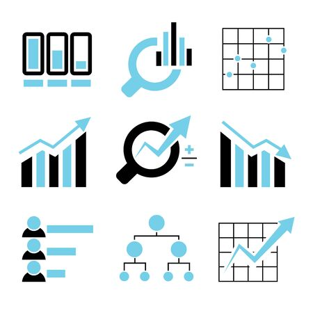 observe: data analytics icons Illustration