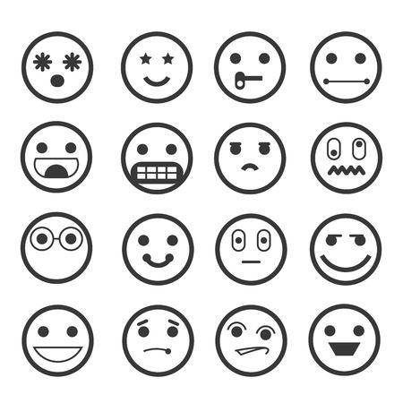 white face: emoticons Illustration