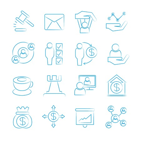 tendance: business management icons Illustration