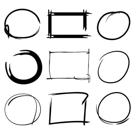 deletion: circles, frame markes