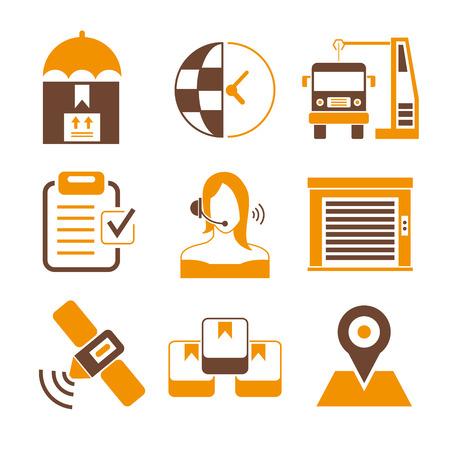 sattelite: shipping, customer service icons