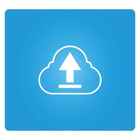 cloud icon: cloud upload Illustration