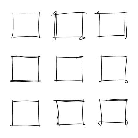 rectangular: hand drawn frames