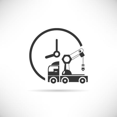 wrecker: wrecker car service, crane truck, auto service