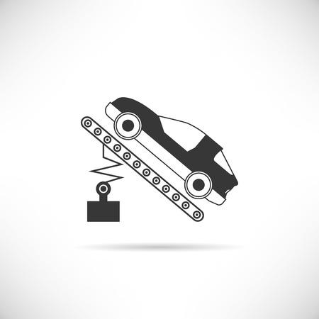 chock: car repair, car garage Illustration