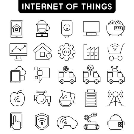 car factory: internet of things icons, smart home icons