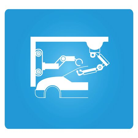 factory automation: automation system in car factory, car production