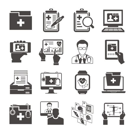 medical data icons Banco de Imagens - 50960962