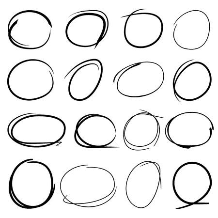 highlighter: circle highlighter elements Illustration