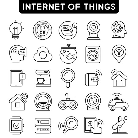 sensors: internet of things icons