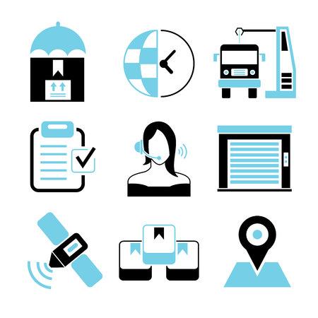 lading: customer service icons Illustration