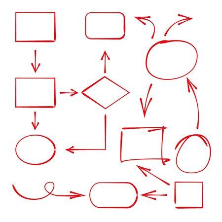 elementos marcadores y diagrama Ilustración de vector