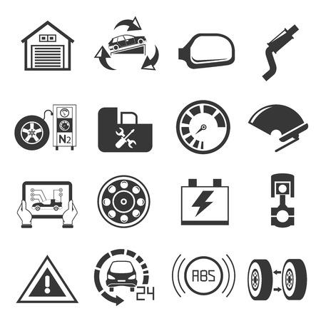 chock: car service icons