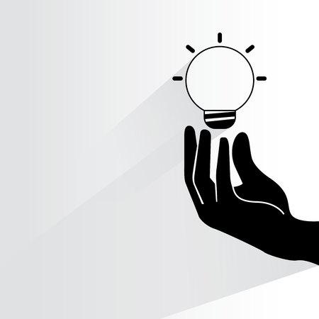 prudent: hand holding light bulb