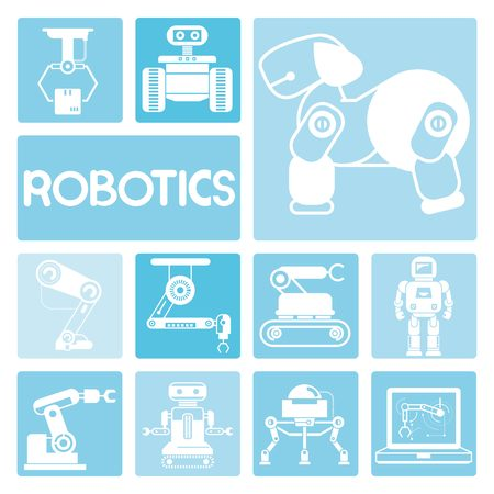 machine operator: robot icons
