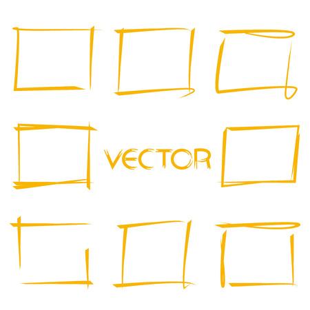 rectangle: rectangle marker frames Illustration