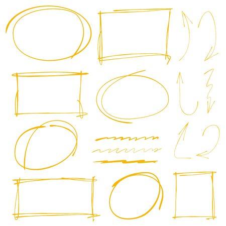 vector arrows: marker text selection vector, arrows
