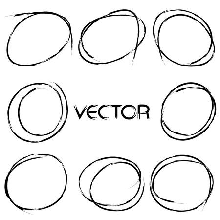 a stain: black hand drawn circles