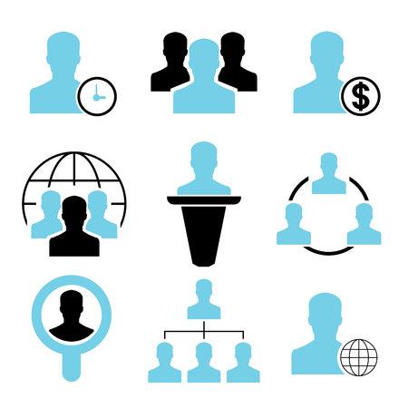 allocate: management icons Illustration