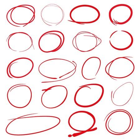 highlight: red highlight circle set