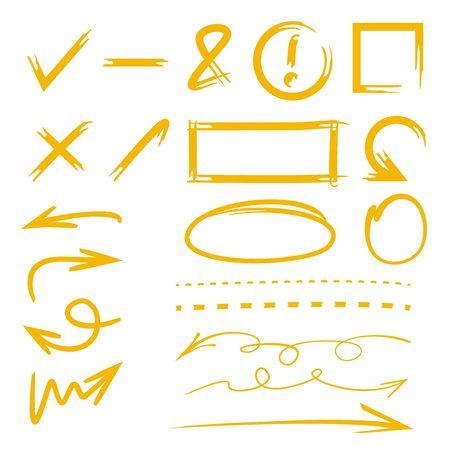 Hand gezeichnet Marker Set