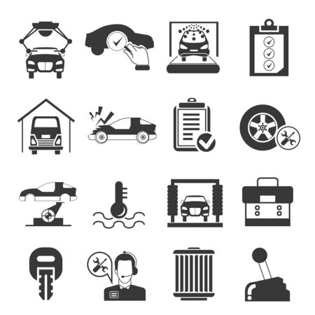 disk break: car service icons