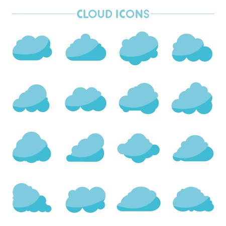 wheather: cloud icons Illustration