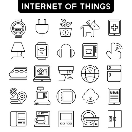 train table: internet of things icons