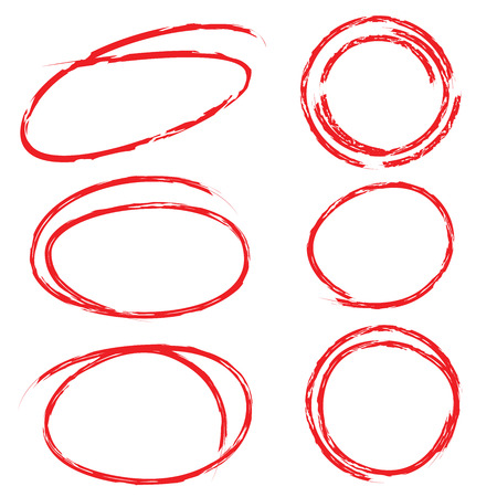 red highlight circle set