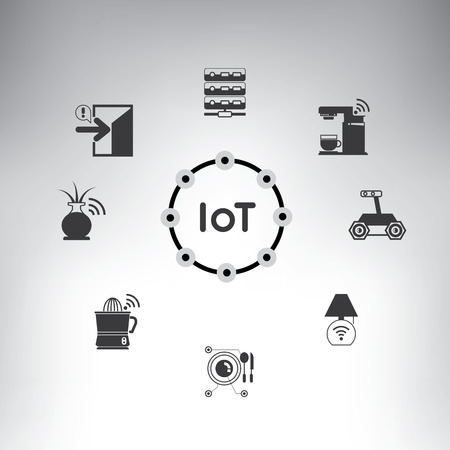 internet symbol: IoT, internet of things