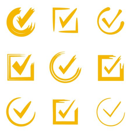 selected: hand drawn check marks