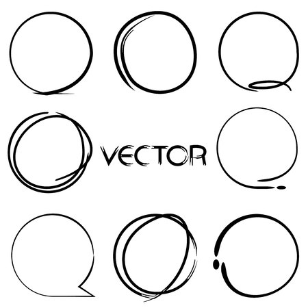 lines vector: highlight markers circle shape Illustration