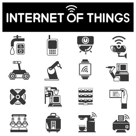 Internet de los objetos iconos