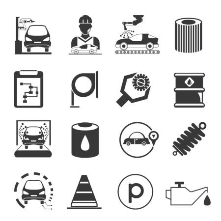barrell: car service icons